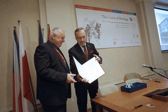 Wręczenie Międzynarodowej Nagrody Wyszehradzkiej. Fot: Danuta Matloch