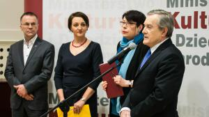 2016-02-26 - Konferencja prasowa na 100 dni Ministerstwa Kultury i Dziedzictwa Narodowego. fot.: Danuta Matloch