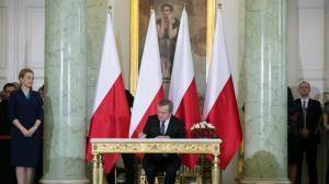 2015-11-16 - Piotr Gliński podczas uroczystości zaprzysiężenia Rady Ministrów, w Pałacu Prezydenckim. fot.: Danuta Matloch