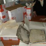 Repacking the inventory books at the State Archive in Olsztyn. (M. Bogacz-Walska, A. Ulewicz 2008, Fig. 1)