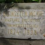 Tablica nagrobna Michała Eustachego Brensztejna na cmentarzu bernardyńskim w Wilnie. Fot. W. Wróblewski.