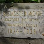 Michał Eustachy Brensztejn's gravestone in the Bernardine Cemetery in Vilnius. Photo W. Wróblewski.