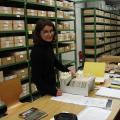 Making a query for Stage II of Project Ostbalticum in Prussia Depotfund in the Museum für Vor- und Frühgeschichte in Berlin, 23 June 2009. Photo Aleksandra Rzeszotarska-Nowakiewicz.