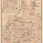 mapa wschodniopruskich stanowisk archeologicznych autorstwa Emila Hollacka (Nowakiewicz T. 2008, ryc. 13).
